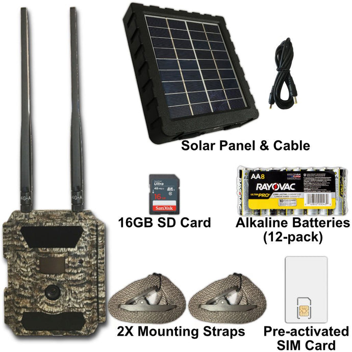 GEO-CAM 4G Essentials + Solar Bundle