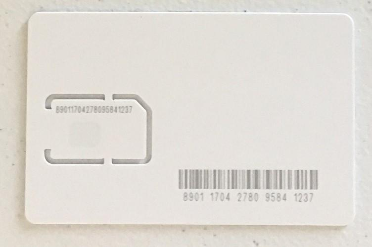 SIM Card (Telit, All White, AT&T)