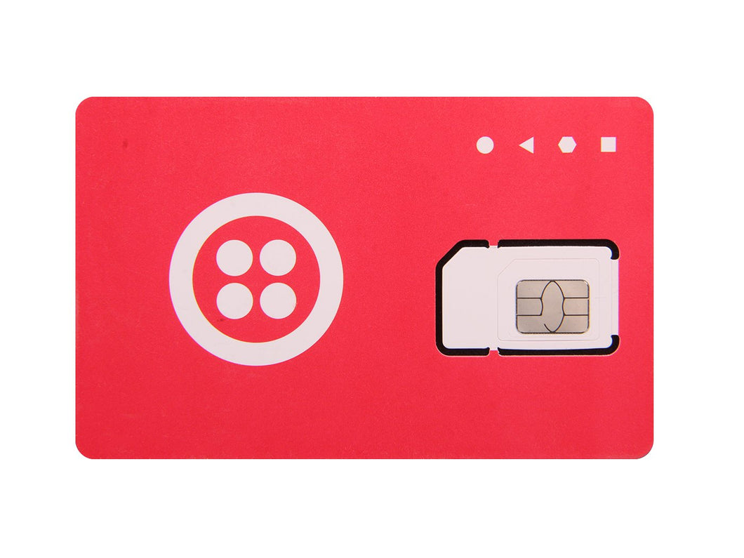 SIM Card (Twilio, Red & White)