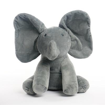 PEEK-A-BOO ELEPHANT PLUSH TOY - 4mothersbymothers