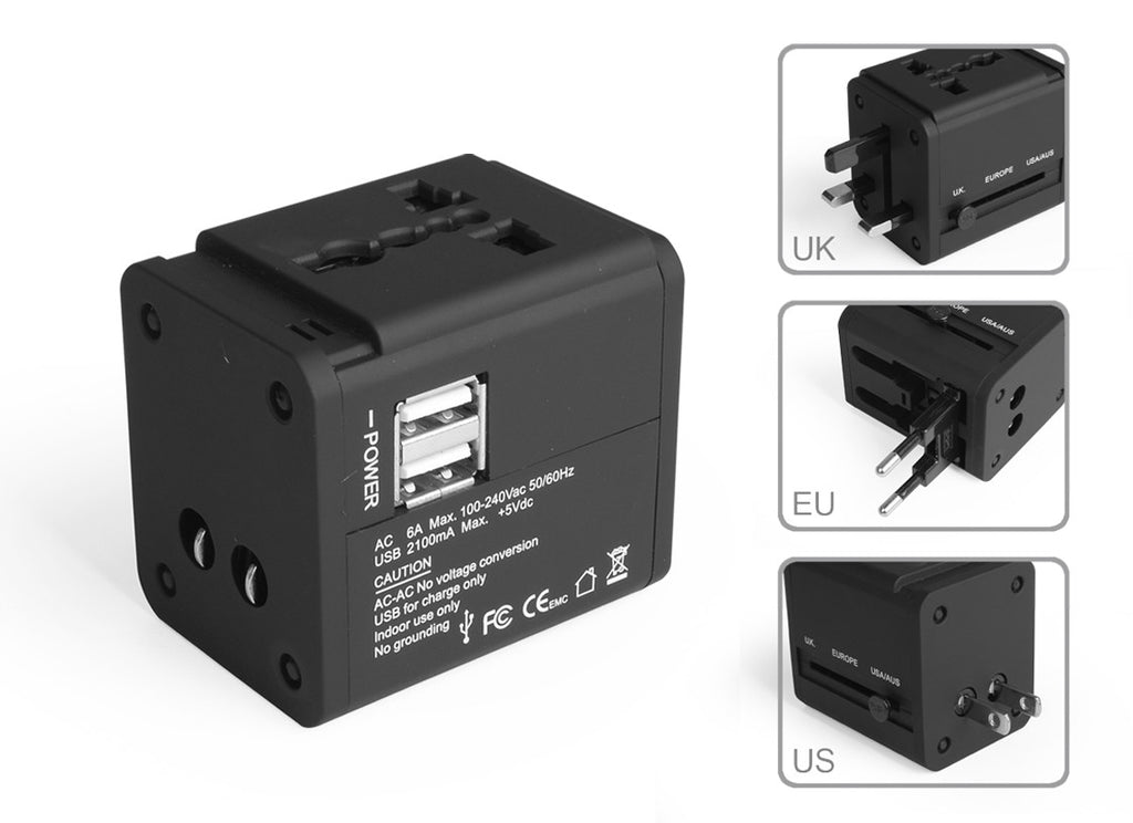 USB Travel adapter Euorope USA Spain and rest of the world