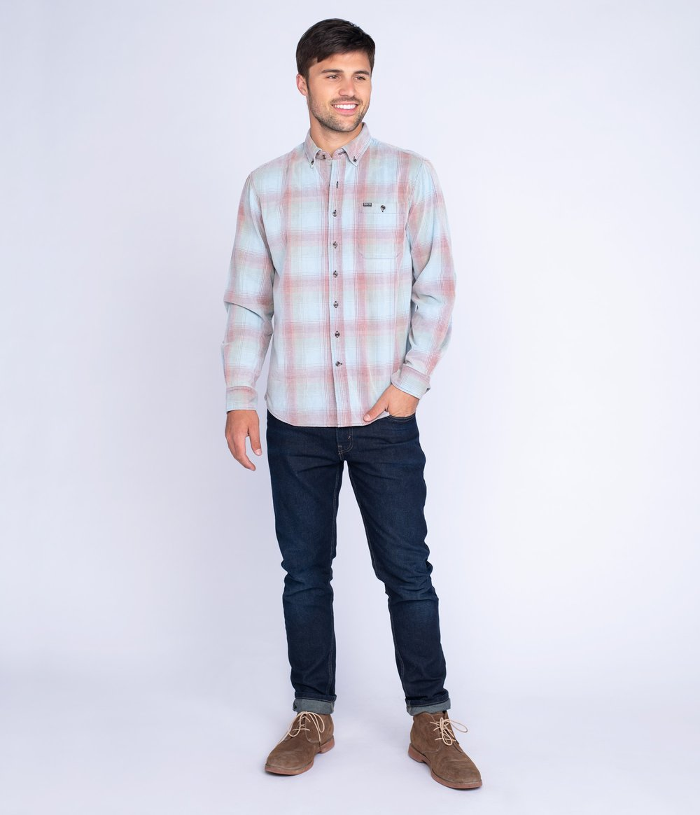 Braxton Lightweight Cord Flannel - Long Sleeve Button Down