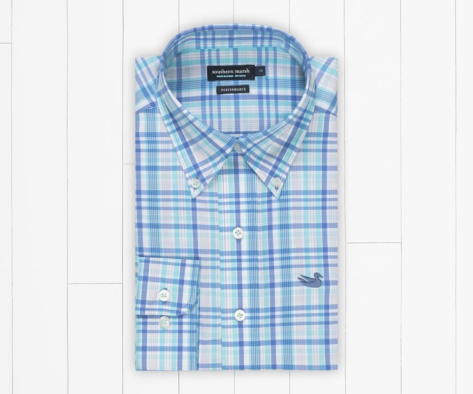Nassau Performance Plaid Dress Shirt