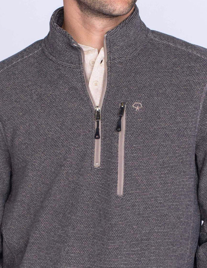Canyon Quarter Zip Pullover - Asphalt