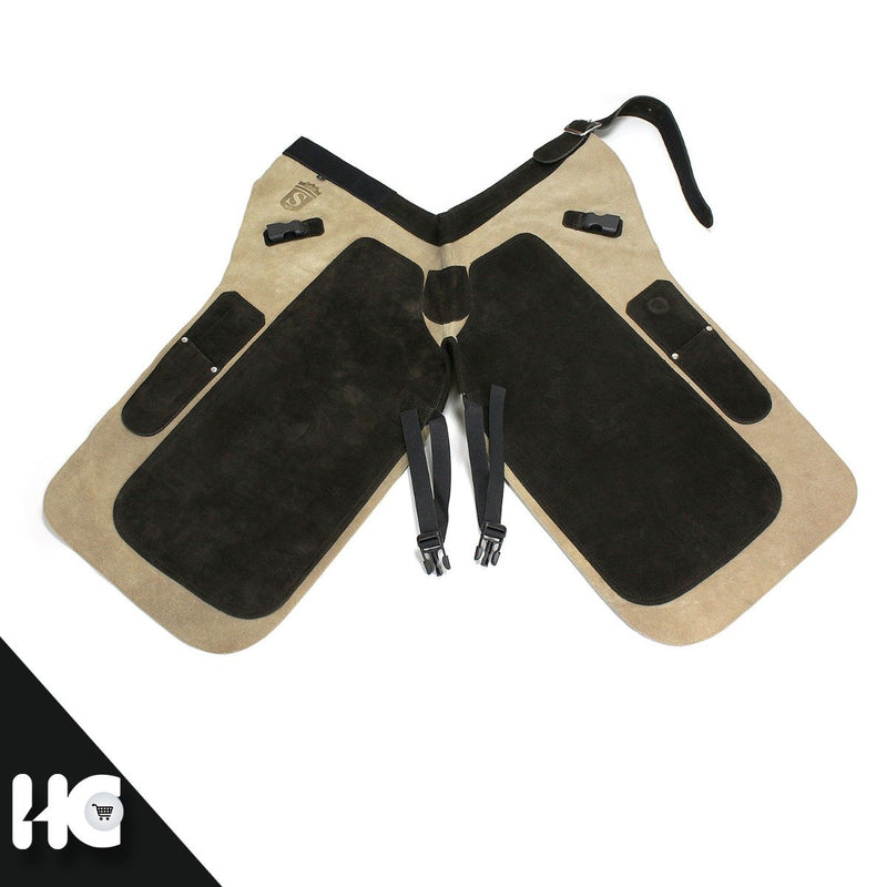 Apron Blacksmith Tan Leather Long - HugeCARE Srl