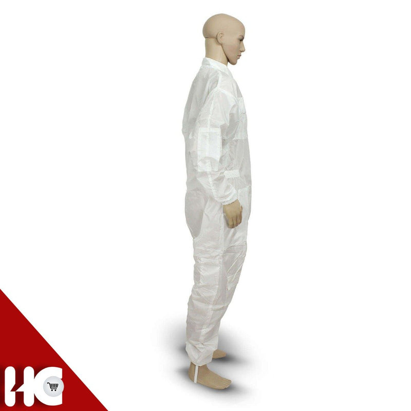 White Beekeeping Suit Without Hood 100% Polyester Water Proof - HugeCARE Srl