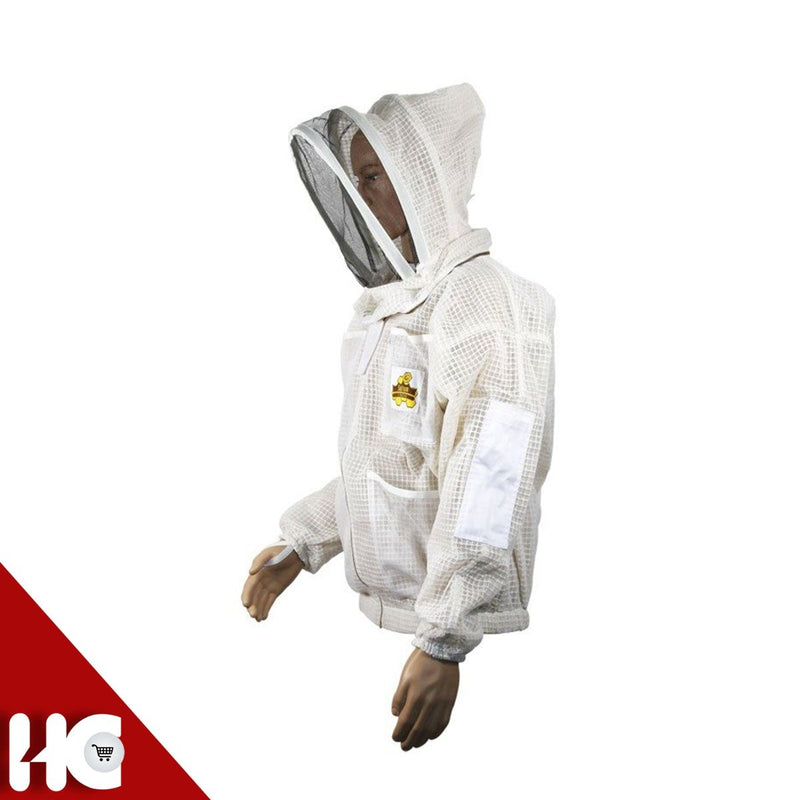 Ventilated Beekeeping Jacket with Round Veil - HugeCARE Srl