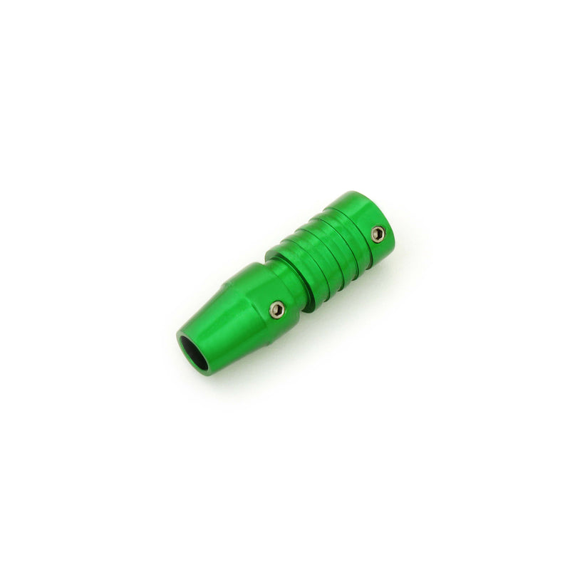 Tattoo Cartridge Grip Green And Grooved 16Mm - HugeCARE Srl