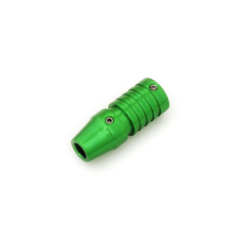 Tattoo Cartridge Grip Green And Grooved 19Mm - HugeCARE Srl