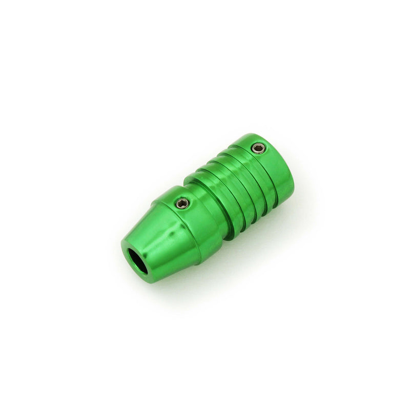 Tattoo Cartridge Grip Green And Grooved 22Mm - HugeCARE Srl