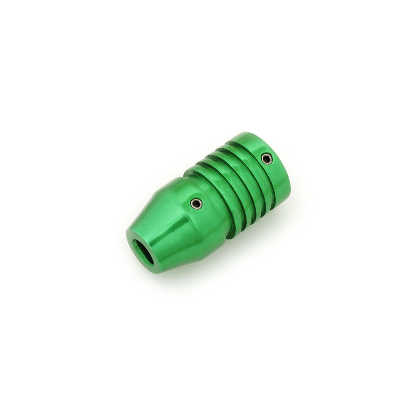 Tattoo Cartridge Grip Green And Grooved 25Mm - HugeCARE Srl