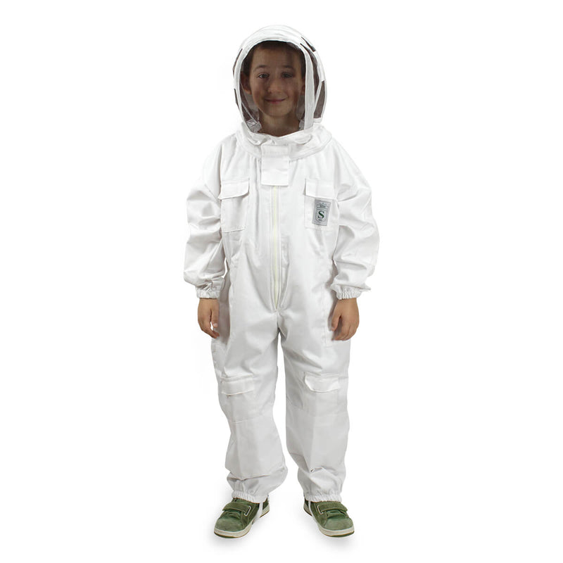 Children's Beekeeping Suit with Oval Veil Protective Mask - HugeCARE Srl