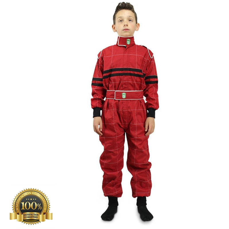 Children's High-Quality Kart Racing Suit In Red Color - HugeCARE Srl