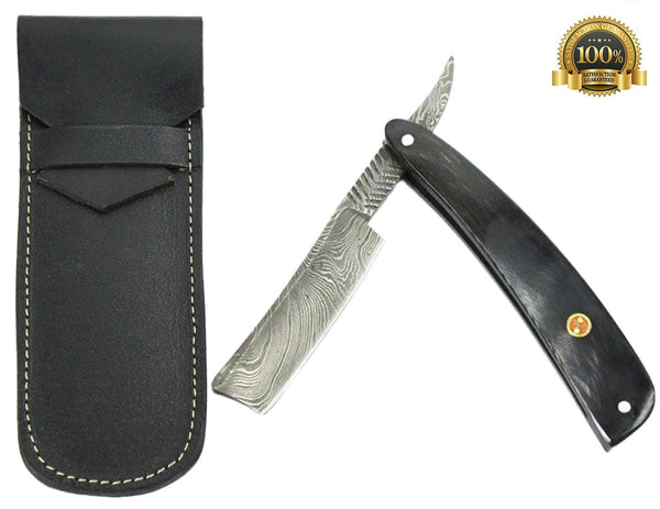 Damascus Shaving Razor with damask steel - HugeCARE Srl