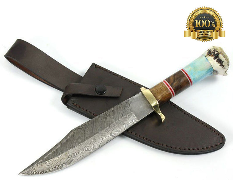Damascus Hunting Knife - HugeCARE Srl