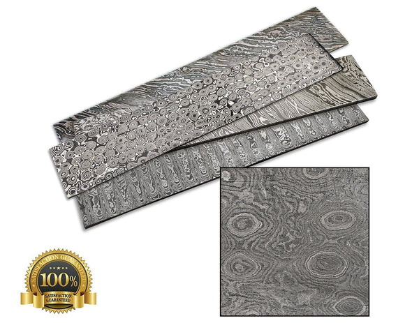 Bar Steel Damascus 380X65X4Mm Raindrop - HugeCARE Srl