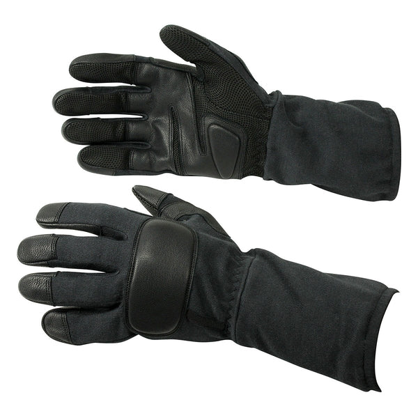 Genuine Leather Long Operational Tactical Gloves - HugeCARE Srl