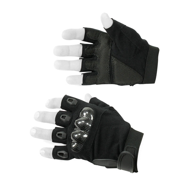 Special Synthetic Leather Half Finger Gloves - HugeCARE Srl