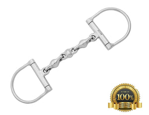 D-Ring Snaffle Horse Bits Waterford Stainless Steel - HugeCARE Srl