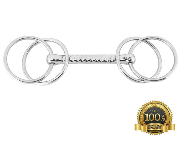Willson Loose Ring Snaffle Bits With Straight Bar - HugeCARE Srl