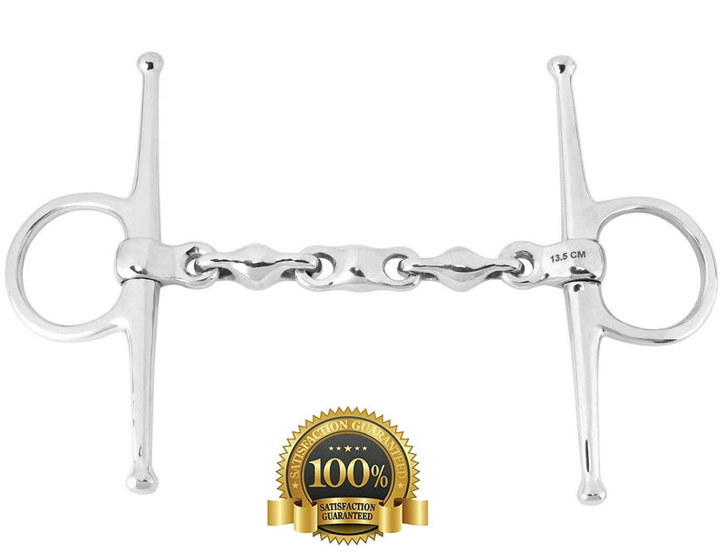 Professional Stainless Steel Full Cheek Waterford Snaffle - HugeCARE Srl