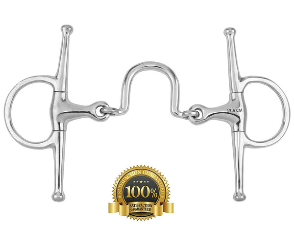 "Full cheek Snaffle Bits With U Link Stainless Steel 12.5"" - HugeCARE Srl"