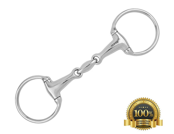 "Full cheek Snaffle Bits With U Link Stainless Steel 11.5"" - HugeCARE Srl"