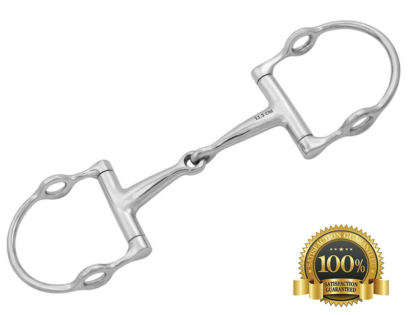 D-Ring Gag Horse  Bit S/jointed Mouthpiece Stainless Steel - HugeCARE Srl