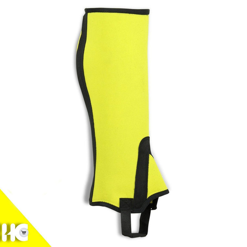 Horse Riding Fancy Chevrons Half Chaps Made Of Yellow Neoprene - HugeCARE Srl