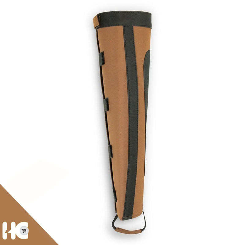 Horse Riding Leather Half Chaps Made Of Brown/Black Amara Two Tone - HugeCARE Srl