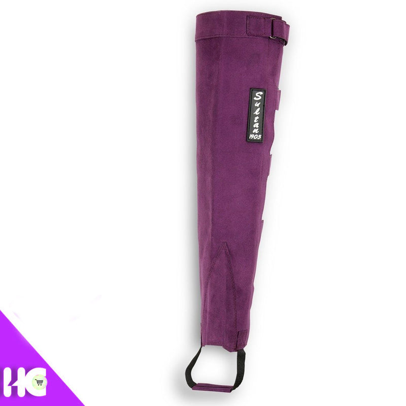 Synthetic Leather Half Chaps Made Of Purple Amara Velcro - HugeCARE Srl