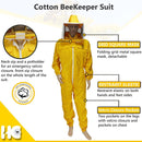 Ventilated Beekeeping Suit with Square Mask And Front Veil Netting - HugeCARE Srl