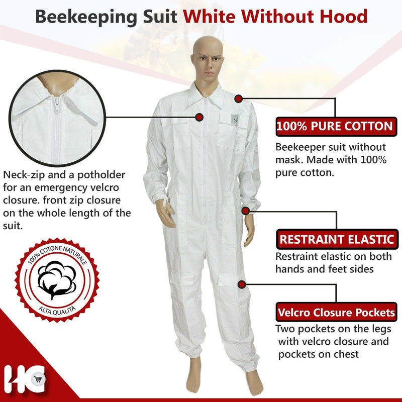 Ventilated Beekeeping Suit without Mask And Hood - HugeCARE Srl