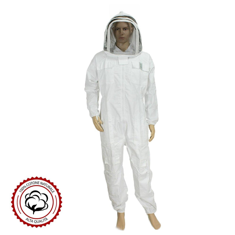 Top Quality Ventilated Beekeeping Suit with Fence Veil Oval Mask - HugeCARE Srl