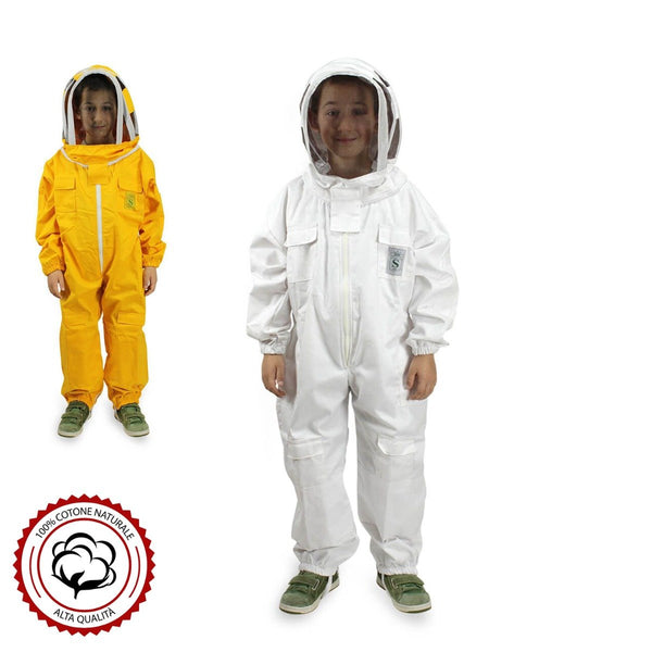Children's Beekeeping Suit with Round Veil Protective Mask - HugeCARE Srl