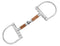 D-Ring Snaffle Horse Bits With Copper Wire Wrapped Mouthpiece - HugeCARE Srl