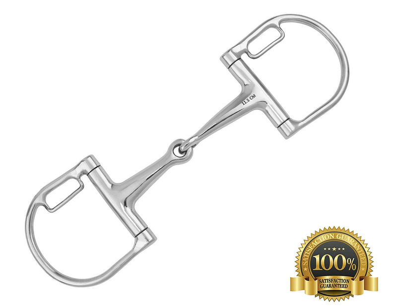 Horse Bits D-Ring Snaffle With Small Loops Stainless Steel - HugeCARE Srl