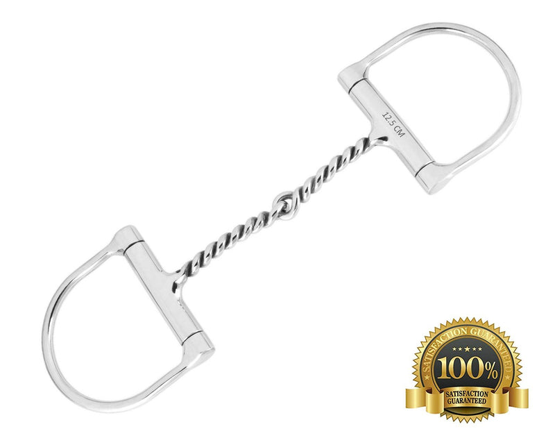 D Ring Snaffle Bits Small Joint With Twisted Wire Mouth - HugeCARE Srl