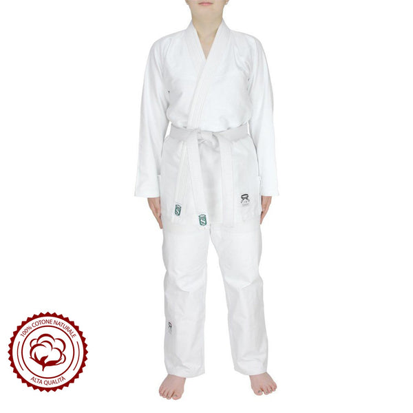 Adult Single weave cotton student judo suit 370/380G - HugeCARE Srl
