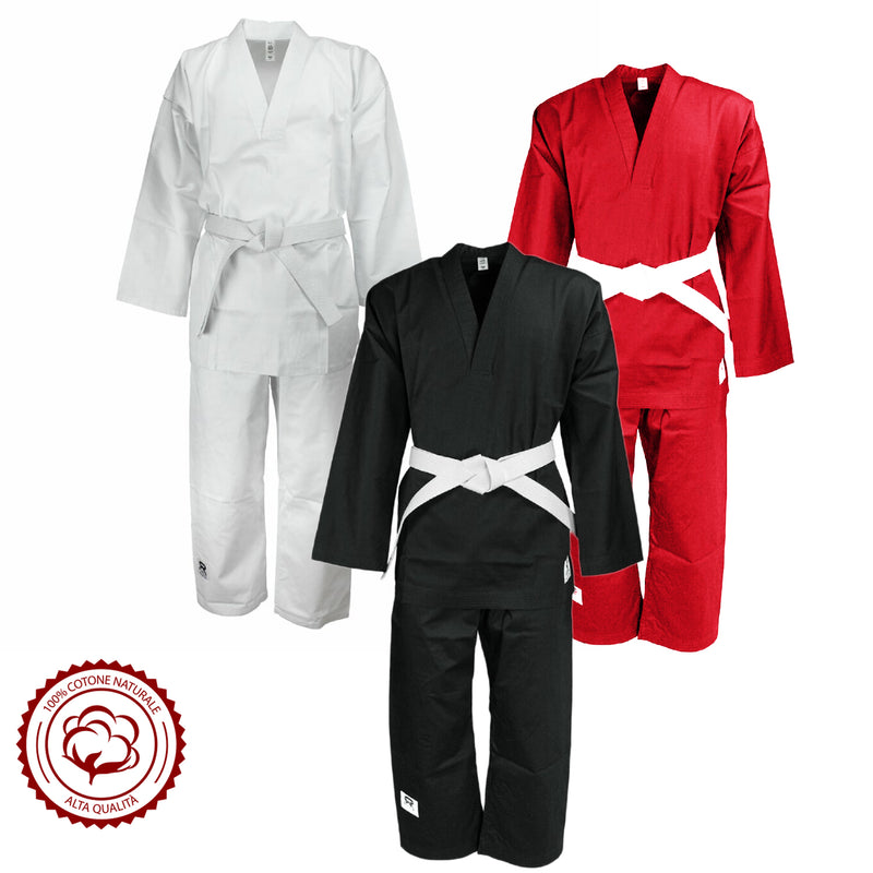 Kids Lightweight V-Neck Martial Arts Karate Outfit 240G/ 8 oz - HugeCARE Srl