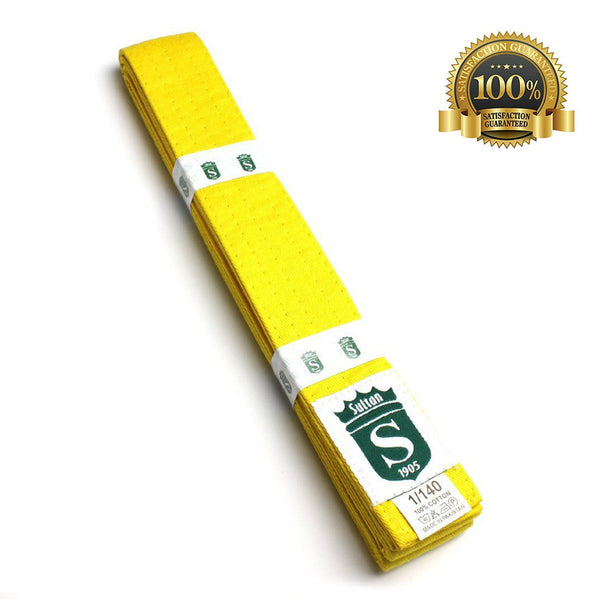 Premium Martial Arts Yellow Belt For Kids - HugeCARE Srl