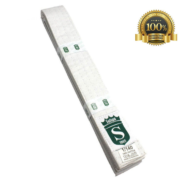 Premium Martial Arts White Belt For Kids - HugeCARE Srl