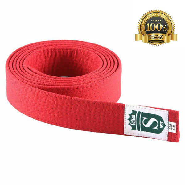 High-Quality Martial Arts Red Belt - HugeCARE Srl