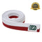 Premium Martial Arts Bicolor Belt Split Length Red and White - HugeCARE Srl