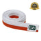 Premium Martial Arts Bicolor Belt Split Length Orange and White - HugeCARE Srl
