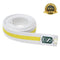 Premium Martial Arts White Belt with Yellow Stripe - HugeCARE Srl