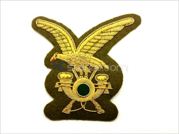 Gold Wire Embroidered Alpine Infantry Badge - HugeCARE Srl