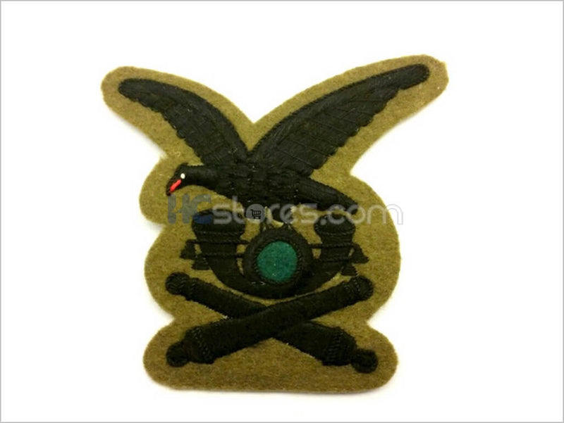 Black Thread Alpini Artillery Handmade Badge - HugeCARE Srl