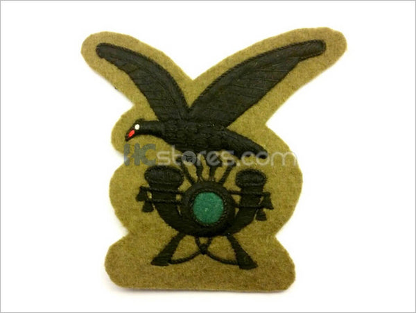 Black Thread Alpini  Infantry Handmade Badge - HugeCARE Srl