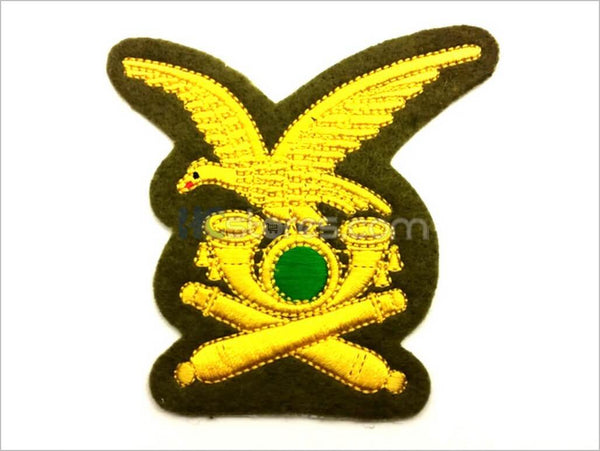 Gold Wire Embroidered Alpine Artillery Badge - HugeCARE Srl